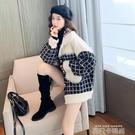 2020年新款韓版寬鬆百搭秋冬季風小香仿水貂毛絨粗花呢女士短外套 依凡卡時尚