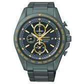 SEIKO Criteria競速運動風格三眼計時腕錶/黑金/42mm/7T92-0RK0K(SNDF79P1)