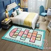 兒童地毯跳房子洗臥室滿鋪床邊毯爬行墊水地墊【少女顏究院】