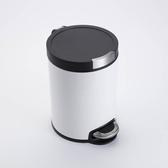 卡爾緩降超靜音踏式垃圾桶5L- 白
