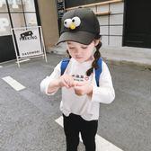 女寶寶T恤2018新款秋裝女童體恤嬰兒童長袖上衣小童洋氣打底衫潮