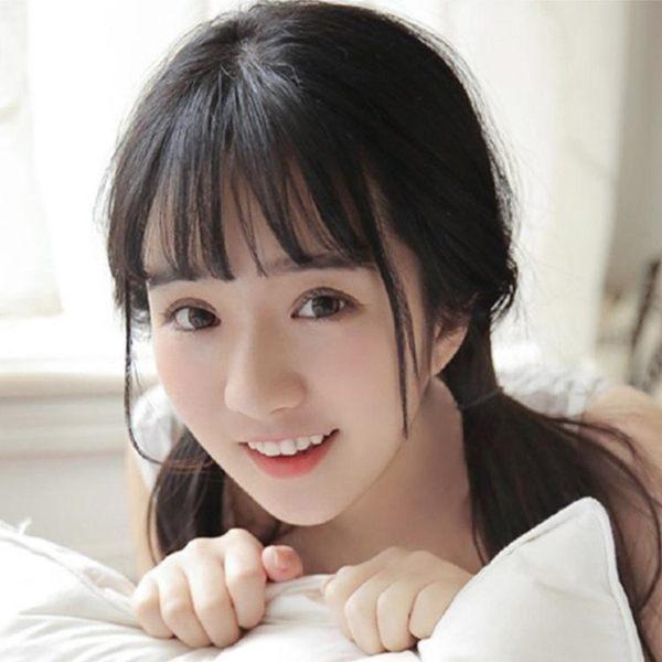 超薄3d空氣瀏海假髮片真髮遮白髮頭頂補髮片女韓系韓系瀏海假瀏海