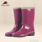 春秋女士成人時尚中筒雨鞋韓國女耐磨防滑雨靴四季水鞋膠鞋女套鞋 創意新品