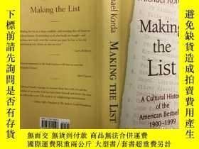 二手書博民逛書店Making罕見the List: A Cultural His
