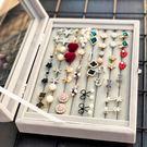 首飾盒公主歐式韓國耳環耳釘手飾品珠寶盒子首飾收納盒絨布大容量