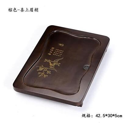 幸福居*特價功夫茶具配件儲水排水實木茶盤小號竹茶海茶台大號茶托盤24(主圖款)