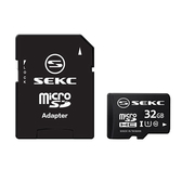 SEKC MicroSD UHS-I 記憶卡+轉卡-32G【愛買】