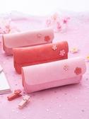 筆袋 少女心鉛筆袋ins櫻花古風簡約韓國可愛日系初中生韓版網紅文具盒