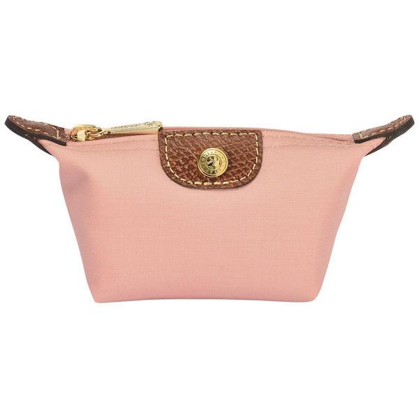 Longchamp 拉鍊式水餃零錢包~  (玫瑰粉色)