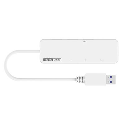 TOTOLINK U1003 USB 3.0 轉RJ45 Gigabit 網路卡+集線器