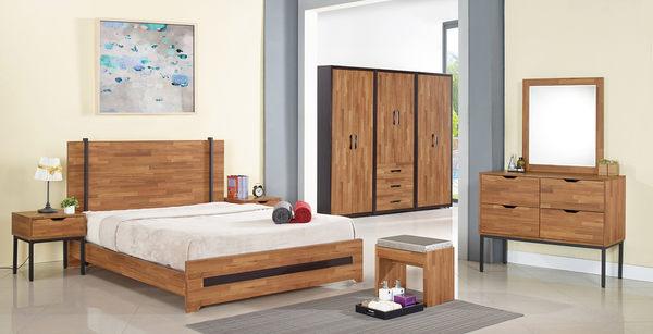 【森可家居】亞瑟3.5尺柚木集層四斗櫃 7JF023-4 工業風 木紋質感 衣物收納櫃