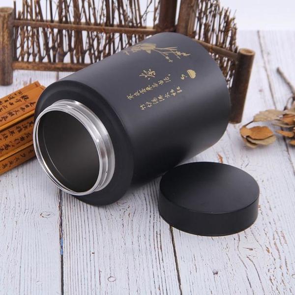 食品級304不銹鋼茶葉罐高級密封儲茶罐高檔金屬罐密封茶桶儲物罐「免運」