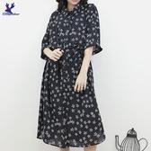 【秋冬新品】American Bluedeer - 綁帶排釦洋裝 二色