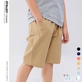 男童短褲夏季外穿五分褲純棉寬鬆校褲【奇趣小屋】
