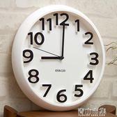 掛鐘 時尚創意靜音掛鐘現代簡約時鐘個性數字鐘錶藝術客廳石英鐘YYJ 青山市集