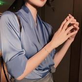 手鍊可調節八芒星手女2020新款潮網紅手鐲學生閨蜜簡約小眾個性手飾 新年禮物