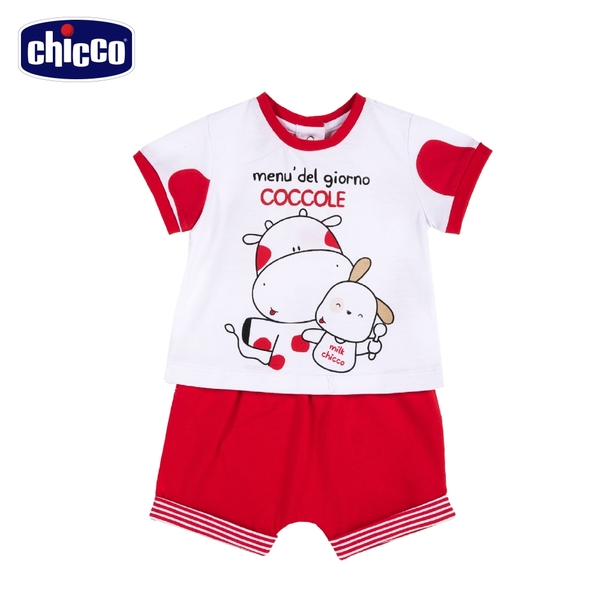 chicco- 小乳牛-短袖套裝