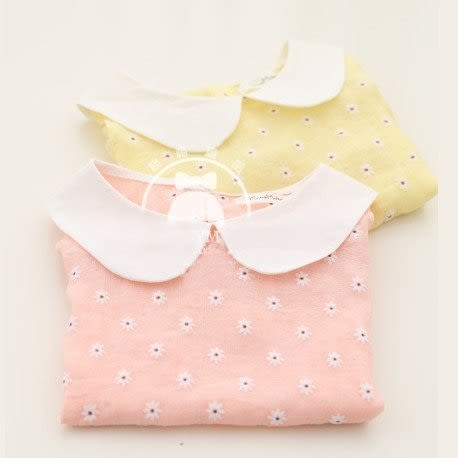 韓版《削肩小花朵》甜美短袖上衣