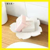 櫻花肥皂盒創意個性瀝水皂托衛生間浴室可愛卡通迷你小兒童香皂盒【櫻花本鋪】