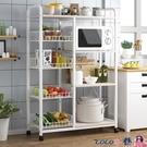 微波爐架 廚房置物架收納用品家用大全多功能微波爐架子落地多層鍋具儲物架 LX coco