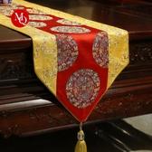 新中式禪意復古桌旗現代簡約餐桌裝飾布茶幾電視鞋柜桌布