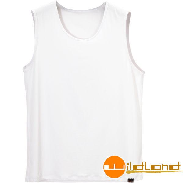 Wildland荒野 W1686-30白色 男透氣排汗無袖內衣