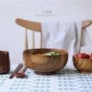 川島屋日式酸棗木碗家用大號湯碗拉面碗吃面條碗整木制餐具木質碗  快速出貨