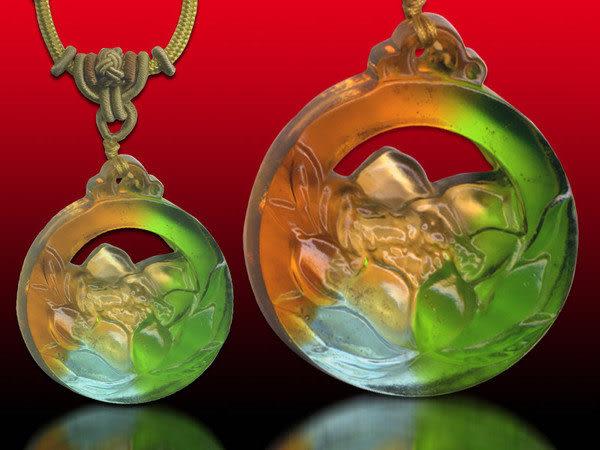 鹿港窯~居家開運水晶琉璃項鍊~茶花 ◆附精美包裝◆免運費送到家
