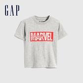 Gap男幼童 Gap x Marvel 漫威系列純棉短袖T恤 733620-灰色