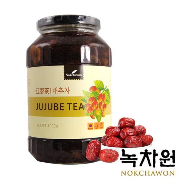 韓國 NOKCHAWON 綠茶園 蜂蜜紅棗茶 (1kg/罐) 韓式養生果茶