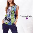 挖袖數位印花罩衫TA623(商品圖不含內搭/男女皆適宜) -百貨專櫃品牌 TOUCH AERO 瑜珈服有氧服韻律服