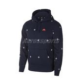 Nike 長袖T恤 SB Icon Printed Pullover Hoodie 深藍 白 男款 帽T 運動休閒 印花 【ACS】 BV0881-451