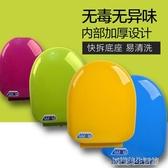 彩色馬桶蓋通用加厚坐便器蓋緩降老式圈座便蓋PP蓋板O U型V型配件 YDL