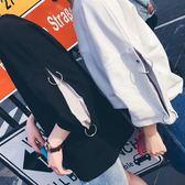 新款男女半袖上衣情侶秋裝短袖t恤風bf七分袖寬鬆韓版潮【全館快速出貨】