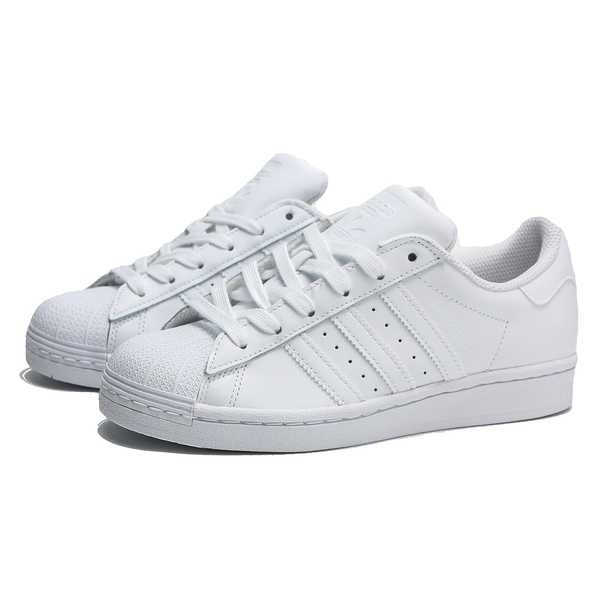 ADIDAS 休閒鞋 ORIGINAL SUPERSTAR 全白 皮革 男段  女(布魯克林) EG4960