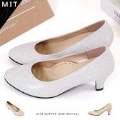 女款 星光熠熠閃爍金蔥皮革 加厚足弓鞋墊 跟鞋 高跟鞋 婚鞋 宴會鞋 MIT製造 59鞋廊