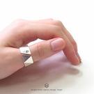 訂製  刻字戒 續未來(小) 三角形 925純銀戒指-64DESIGN