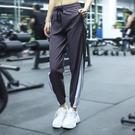 運動褲 運動褲女寬鬆收口束腳速干跑步長褲休閒顯瘦口袋健身瑜伽哈倫褲夏