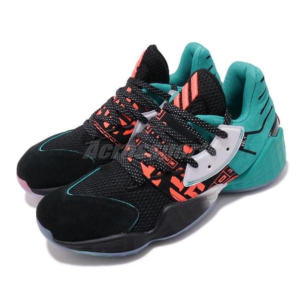 adidas 籃球鞋 Harden Vol.4 Geek Up 黑 藍 綠 男鞋 冰底 運動鞋 【PUMP306】 EH1999