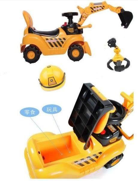 *粉粉寶貝玩具*二合一音樂挖土機助步車 附兩種夾子 怪手學步車