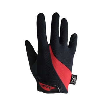 147 Design DRAFTING BLACK/RED 自行車全指手套男女通用