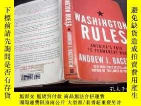 二手書博民逛書店英法德意等原版外文書罕見WASHINGTON RULES:AMERICA S PATH TO PERMANENT