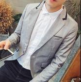 西裝外套 韓版西服男士春秋休閒上衣潮男裝英倫新款小西裝秋裝修身外套【元宵節快速出貨八折】