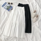 半身中長裙子夏季2020年新款女裝韓版女學生高腰a字白色半身裙潮-米蘭街頭