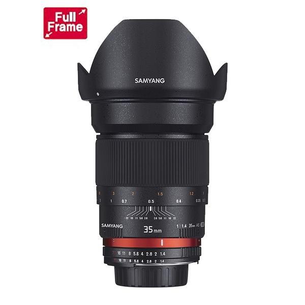 【聖影數位】SAMYANG For Canon 35mm F1.4 AS UMC AE全幅 手動 鏡頭  CANON  EF接環  (公司貨)