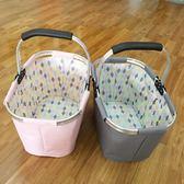 出口歐美日系時尚家居 購物籃收納籃便攜可折疊購物籃野餐籃 卡米優品