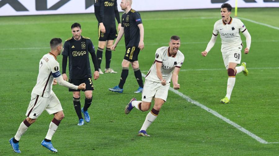 La Roma vola in semifinale! Dzeko firma l'1-1 con l'Ajax, ora c'è lo United