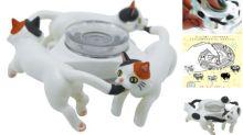 日本奇譚扭蛋「貓陀螺」 3隻貓咪咬尾超可愛