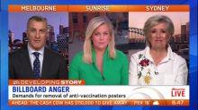 Anger over anti-vaccine billboard