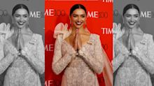 Deepika Padukone wears Anamika Khanna at the Time 100 Gala